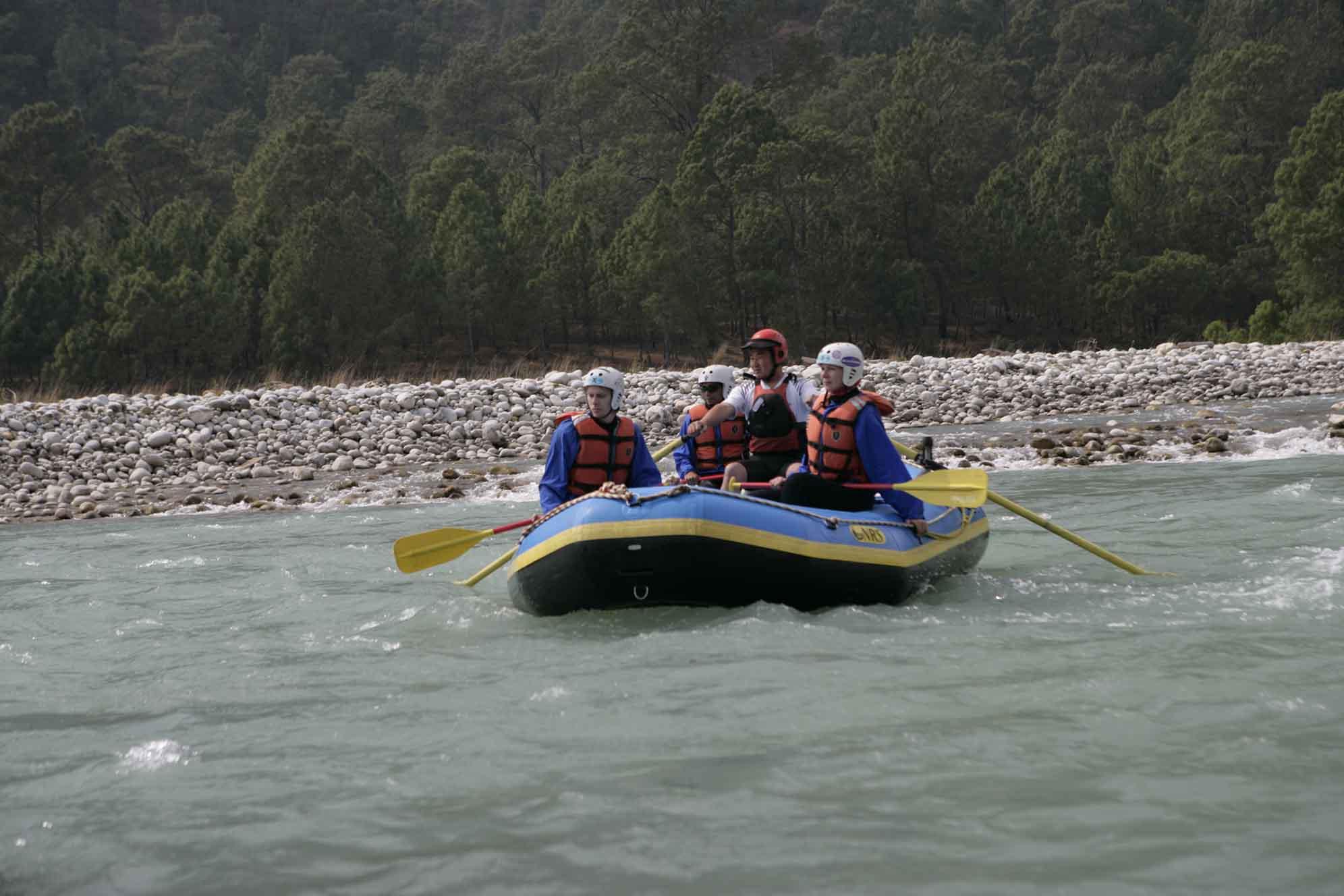 White water river rafting in Bhutan